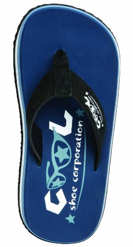 Cool Shoes - Ciabatte infradito da spiaggia, colore: denim scuro, Blu (blu scuro), 43/44