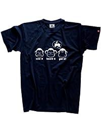 DIE DREI AFFEN - SAW IT - HEARD IT - GOT IT! - QUAD QUADFAHREN QUADFAHRER T-Shirt Navy XL