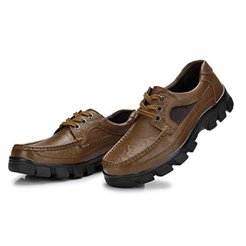 Hommes Affaires Loisirs Cuir Chaussures En Dentelle C
