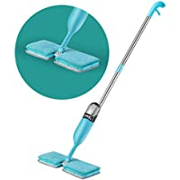 Umi. Essentials Dual-Sided Spray Mop for Wet & Dry Mopping with Two Reusable Microfibre Pads and Refillable 600ml Bottle