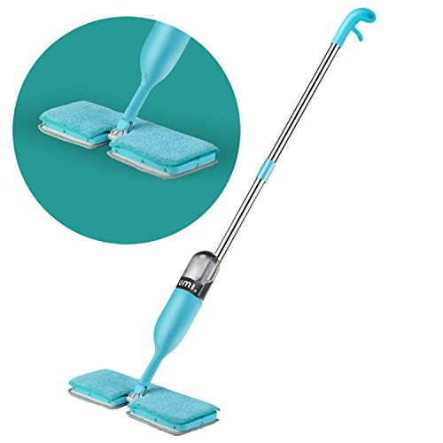 Umi. Essentials - Mopa pulverizadora de doble cara, con dos almohadillas reutilizables de microfibra y una botella de 600ml rellenable