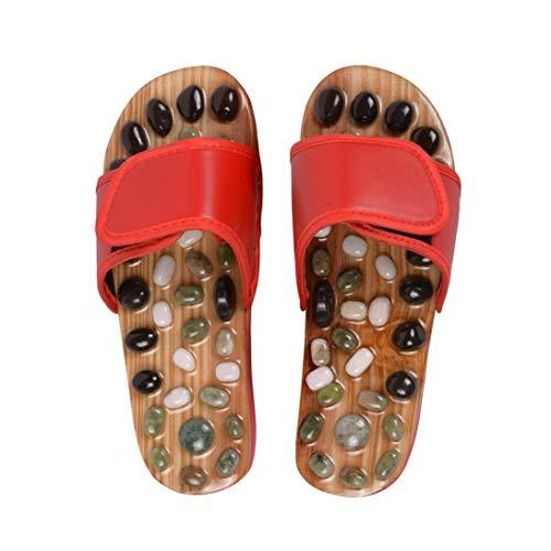 Xrten Pebble Massage Schuhe,Akupressur Fußmassage Hausschuhe für Fußpflege Entspannung(EU 39)