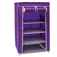 Vogue 5 Layer Shoe Organizer Purple - 60L x 30W x 90H cm