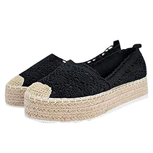 Sneaker A Collo Basso Donna Scarpe Casual Lace con Piattaforma Cava da Donna Sneaker con Zeppa Traspirante Tinta Unita Espadrillas Sneakers Kinlene