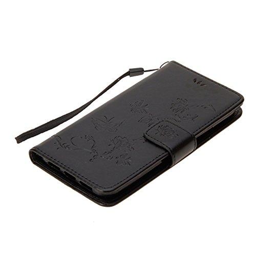 Cover iPhone X, Sportfun Custodia Portafoglio In Pelle Con Wallet Case Cover Per iPhone X con Porta Carte e Funzione Stand (08) 02