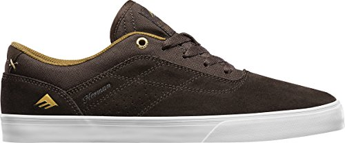 Emerica Herman G6 Vulc, Chaussures de Skateboard homme BROWN/WHITE