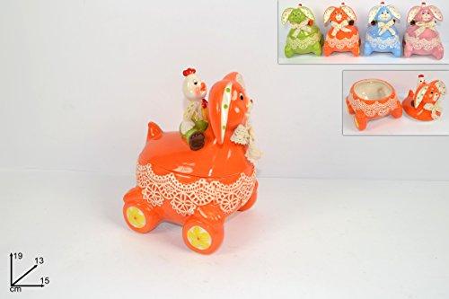 Cofanetto coniglio scatola in ceramica decorazione pasqua pasquale