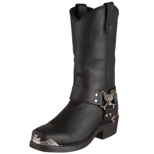 Dingo , Herren Stiefel, schwarz - schwarz - Größe: 43,5 EU (Dingo Stiefel Leder Fashion)
