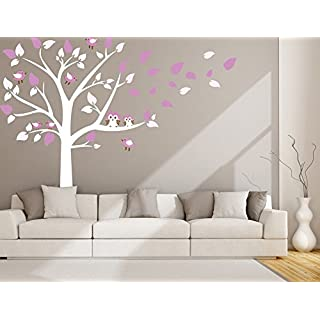 Tree Wall Sticker for Living Room Kids Baby Nursery Wall Decoration Removable Vinyl Family Blossom Tree Wall Art Decal 87x78