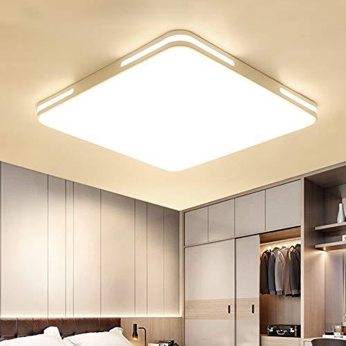 Plafoniera semplice moderna casa camera da letto soggiorno illuminazione creativa plafoniera quadrata scatola bianca 83x66cm108 watt