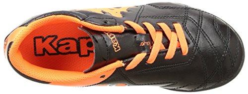 Kappa - 4 Soccer Player Tg, Scarpe da Football americano Unisex – Bambini Noir (Black/Orange Fluo)