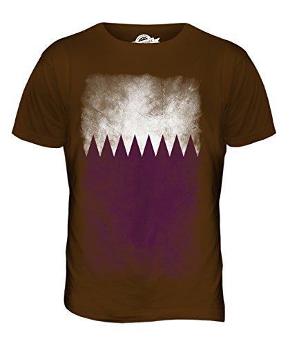 CandyMix Katar Verblichen Flagge Herren T Shirt Braun