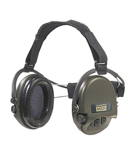 MSA Sordin Supreme Pro X - Neckband Sor76302-X - Aktiver Profigehörschutz, Ausführung: grüne Cups, AUX Eingang