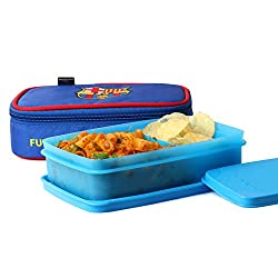 FCBARCELONA Half Time Lunch Box Blue (Licensed By Cello)