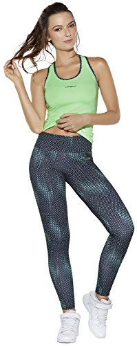Haby Sportswear Set Gym Outfit Compression Leggings des Femmes Vert