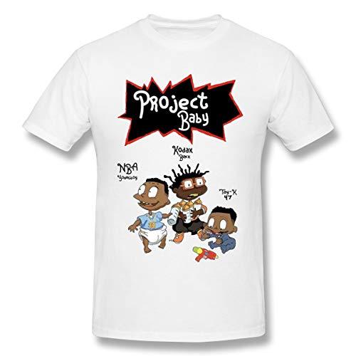 Loisedes Mann NBA Young Boy, Kodak Black and Tay K Project Baby Stylisch T Shirt White 6XL Kurzarm -