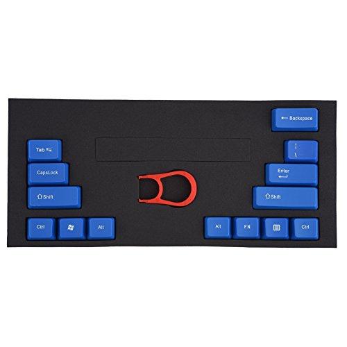 Fosa 14 Tastenkappen ABS Mechanische Tastaturen Keycap mit Key-Cap-Abzieher für Kirsche und andere mechanische Achsen Tastatur Rot Weiß Blau Transparent (optional) - Optional Kirsche