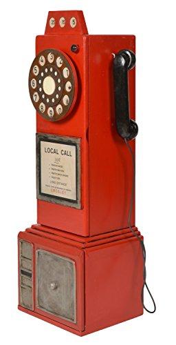 ts-ideen Retrolook CD DVD Schrank Regal Aufbewahrung Design Telefonzelle in rot 79 x 26 cm