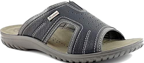 Inblu - ciabatte aperte uomo ecopelle comfort pantofole estate fascia art. fn87 (42)