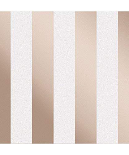 Fine Décor fd42246Monaco Stripe, Rose Gold -