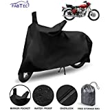 FABTEC Waterproof Taffeta Bike Body Cover for Royal Enfield Electra 350 with Storage Bag Combo (Multicolour)