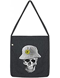 Reni Bucket Hat Lemon Skull Top Quality 'Recycled' Shopper Tote Sling Bag Dark Grey