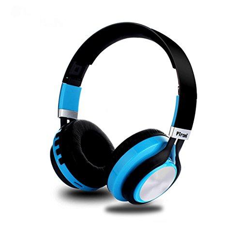 PTron Kicks Wireless Bluetooth, Wired Headphones (Blue, On Ear)