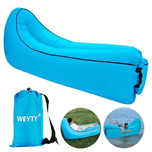 WeyTy Luftsofa, Air Lounger Wasserdichtes Tragbares Aufblasbares Sitzsack Liege Sofa/Bett mit Tragebeutel für Indoor Oder Outdoor, Reisen, Camping Wander, Party, Meer, Strand