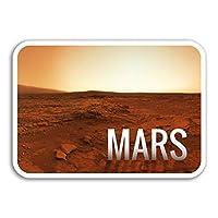 2 x 10cm Planet Mars Vinyl Stickers - Space NASA Sticker Laptop Luggage #8223