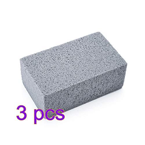 Limpiador de piedra pómez de la parrilla, bloque de ladrillo para la limpieza de la parrilla...