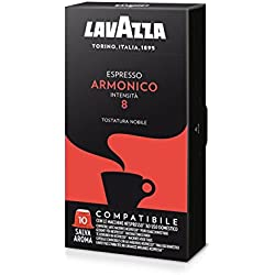 100 Cápsulas Lavazza Espresso Armonico 100% Arábica Compatible Nespresso