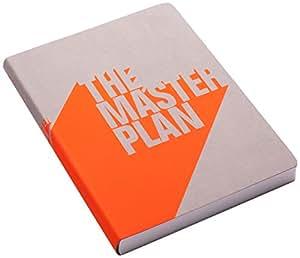 Nuuna Graphic Carnet à couverture en jeans The master plan Orange fluo Taille L