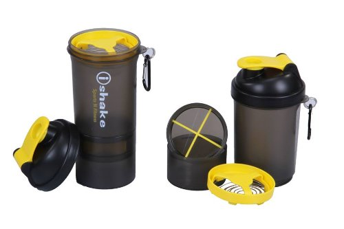 IShake 019 Blender Shaker Bottle, 500ml (Yellow)  available at amazon for Rs.255