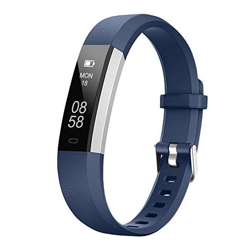 LETSCOM Fitness Armband, wasserdicht Fitness Tracker Aktivitätstracker Armbanduhr mit Schlaf-Überwachung, Schrittzähler, Kalorienzähler, Vibrationsalarm, Fitnessarmband für Kinder, Damen und Herren