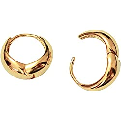 Via Mazzini Salman Khan Inspired Golden Metal Kaju Bali Hoop Earrings For Men