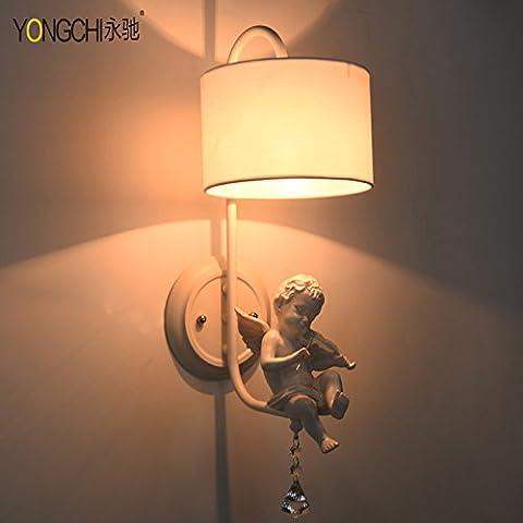 GHT.A Continental minimalista retrò Luce e illuminazione calda corridoio Angelo con En-Suite bagno Ristorante prima parete a specchio luminoso si accende