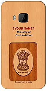 """Aakrti Mobile Back cover with your Dept: Ministry of Civil Aviation.Express your ID in unusual Way With """" Your Name """" Printed on your Smart Phone : Samsung Galaxy-S-7-EDGE"""