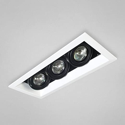 Eurofase TE113-02 3-Light MR16 Recessed Mutiple Strip Trim, White by Eurofase (Mr16 Trim)