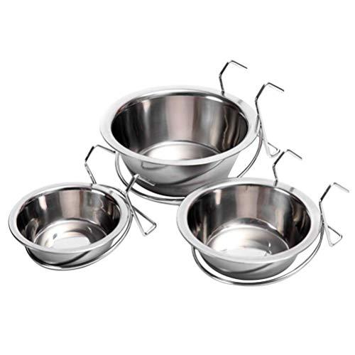 Balacoo 3Pcs Ciotola in Acciaio per Cani Ciotole Sospese per Coniglio Gatto Cane Animale Domestico