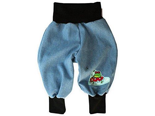 """Baby Jeanshose """"Frosch"""" Gr. 62 - 104 von Kleine Könige Größe 98/104, Farbe schwarz"""