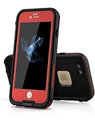 PhoneStar Apple iPhone 6S iPhone 6–carcasa impermeable impermeable al agua Etui de protection Waterproof anti-choc protección completa en negro, color Sans support - Rouge