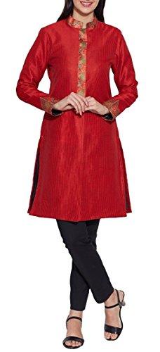 Vestiti per le donne di seta del faux – 100% poliestere rivestimento lungo, giallo limone, W-FLJ 34-2304, Size-34 pollici