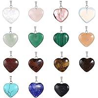 Cmidy 20 a forma di cuore, con perline in cristallo per i Chakra, fai da (Peridot Forma Di Cuore Ciondolo)