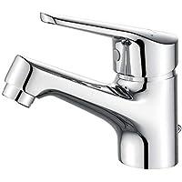 Ibergrif M11050 Roma, Grifo Baño Clásico, Mezclador Monomando para Lavabo, Cromo, Plata