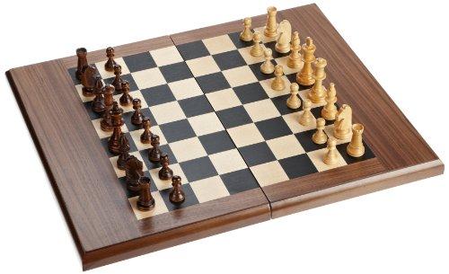 Philos 2525 - Schach-Backgammon-Dame-Set, Magnetverschluss, Feld 50 mm, Königshöhe 90 mm