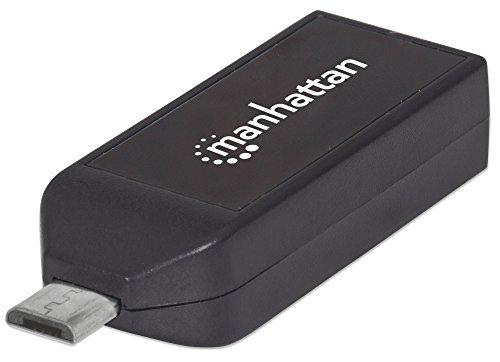 Manhattan 406222 - Lector (MicroSD (TransFlash),MicroSDHC,MicroSDXC,MMC,RS-MMC,SD,SDHC,SDXC, USB/Micro-USB, 480 Mbit/s, ABS sintéticos, FCC, CE, WEEE,