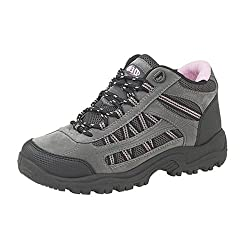 - 41xJyMTWZaL - Dek Ladies Womens Grey Pink Black Hiking Walk Trek Trail Boots Sizes 3 to 8