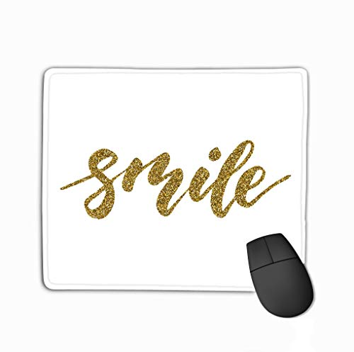 Mouse pad Smile Inspirational Lettering Design Posters Flyers t Shirts Cards Invitations Stickers Banners Hand Painted Brush Pen modern steelseries Keyboard
