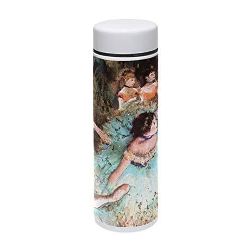 MUOOUM Trinkflasche für Tanz, Ballett, Mädchen, mit Malerei, Vakuum-isoliert, Edelstahl, für 12 Stunden