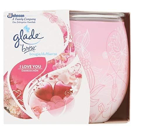 Glade 6er Pack Duftkerze – I Love You – bis zu 30 Stunden – 120 g
